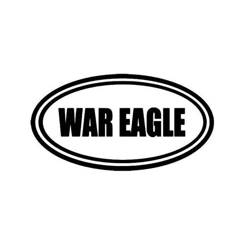 War Eagle Auburn Battle Cry Vinyl Sticker