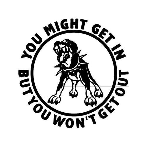 vengeance creek band logo decal 2006 Scion tC Interior warning dog 1 vinyl sticker