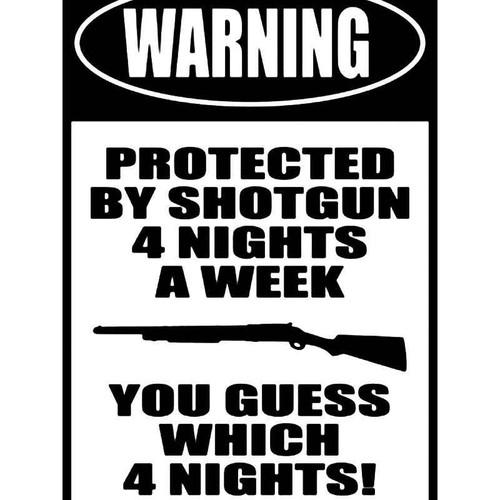 Warning Shotgun Vinyl Sticker
