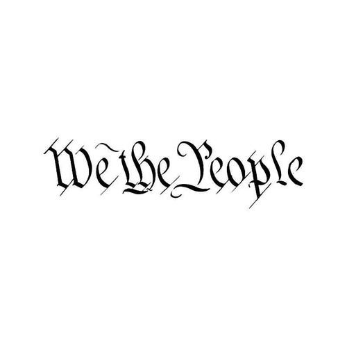We The People Usa Constitution Vinyl Sticker