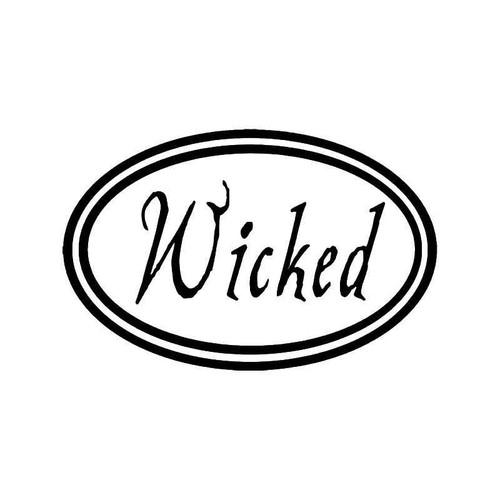 Wicked Oval Vinyl Sticker