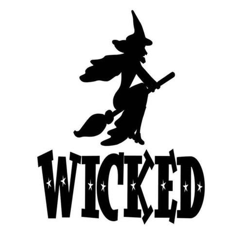 Wicked Witch 595 Vinyl Sticker