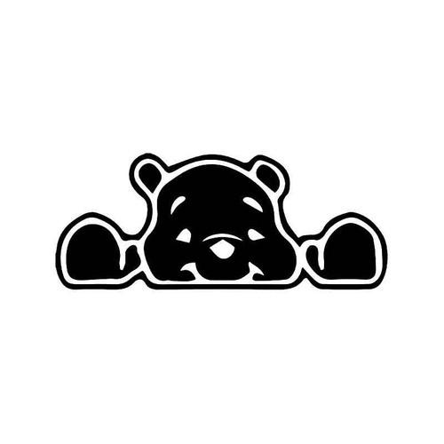 Winnie Pooh Bear Peeking Vinyl Sticker