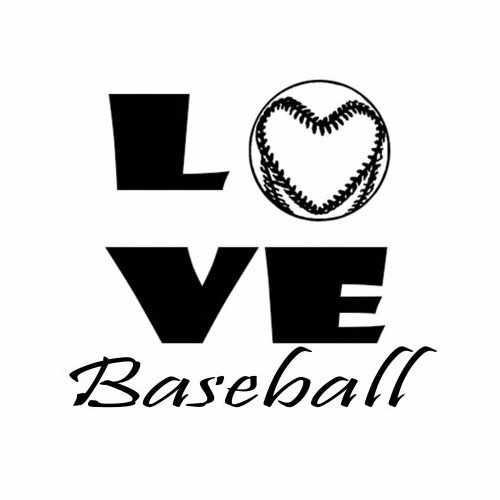 Sports Love Baseball  Vinyl Decal Sticker  Size option will determine the size from the longest side Industry standard high performance calendared vinyl film Cut from Oracle 651 2.5 mil Outdoor durability is 7 years Glossy surface finish