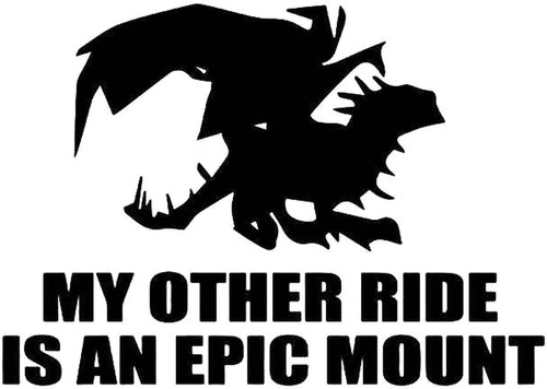 World Of Warcraft My Other Ride Is An Epic Mount