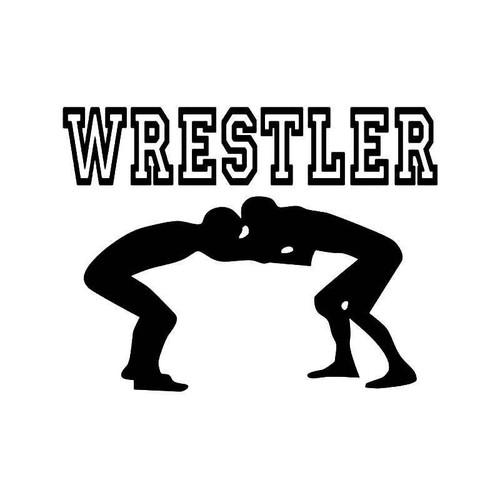 Wrestler Wrestling 2 Vinyl Sticker
