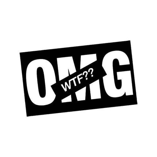 Wtf Omg Jdm Japanese Vinyl Sticker