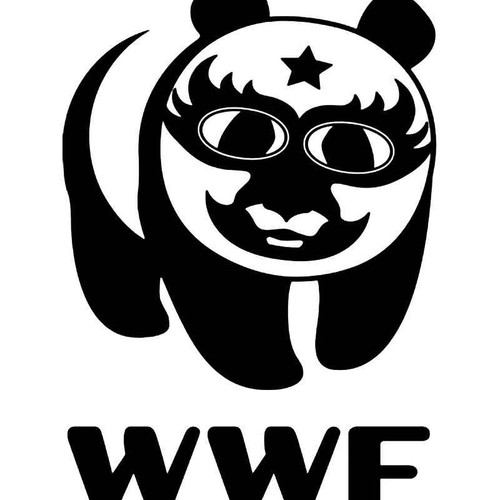 Wwf Panda Lucha Libre Vinyl Sticker