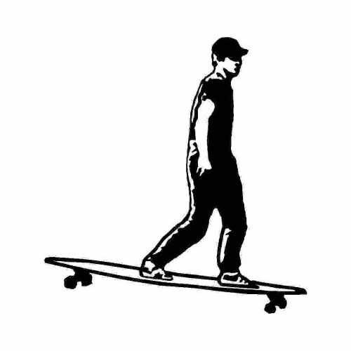 Sports Longboard  Vinyl Decal Sticker  Size option will determine the size from the longest side Industry standard high performance calendared vinyl film Cut from Oracle 651 2.5 mil Outdoor durability is 7 years Glossy surface finish