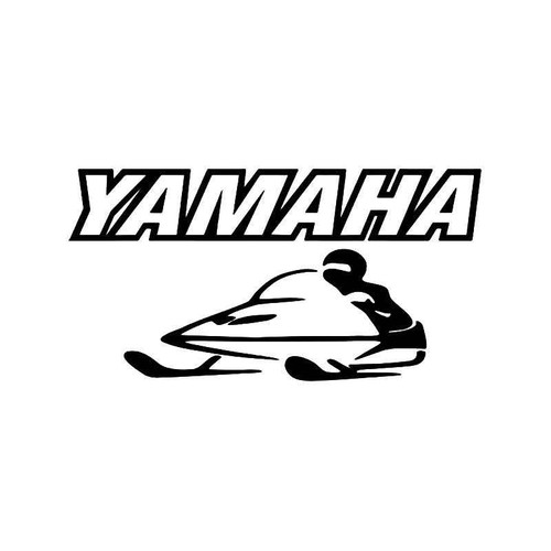 Yamaha Snowmobile Vinyl Sticker