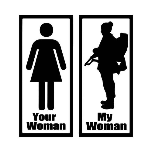 Your Woman My Wife Us Army Vinyl Sticker