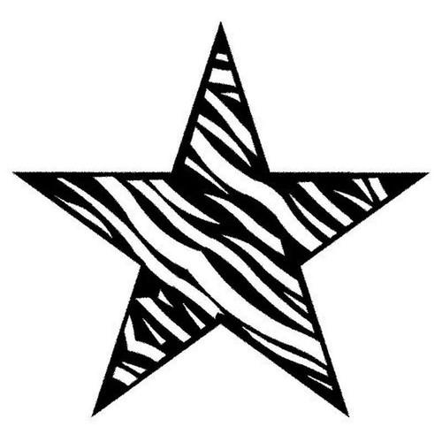 Zebra Star 129 Vinyl Sticker