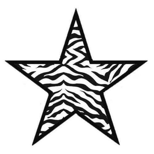 Zebra Star 219 Vinyl Sticker