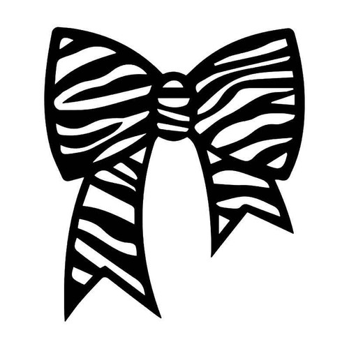 Zebra Stripes Bow Tie Vinyl Sticker