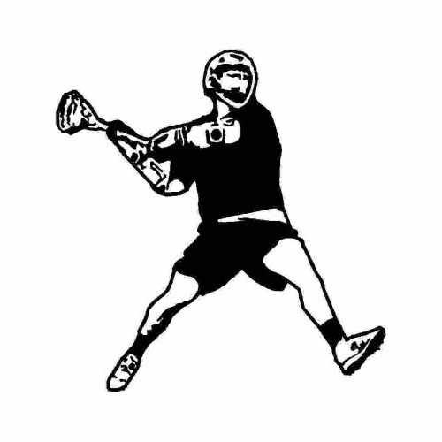 Sports Lacrosse  Vinyl Decal Sticker  Size option will determine the size from the longest side Industry standard high performance calendared vinyl film Cut from Oracle 651 2.5 mil Outdoor durability is 7 years Glossy surface finish
