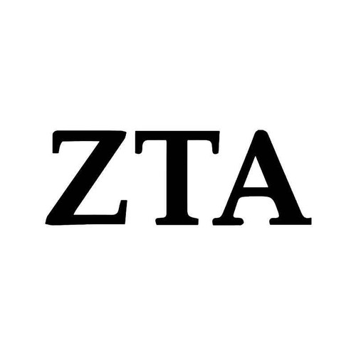 Zeta Tau Alpha Greek Sorority Vinyl Sticker