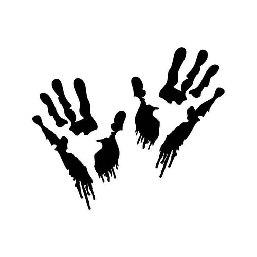Zombie Blood Hands Vinyl Sticker