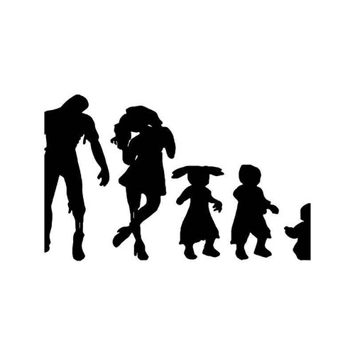 Zombie Family 2 Vinyl Sticker
