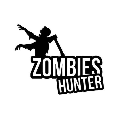 Zombie Hunter 1 Vinyl Sticker