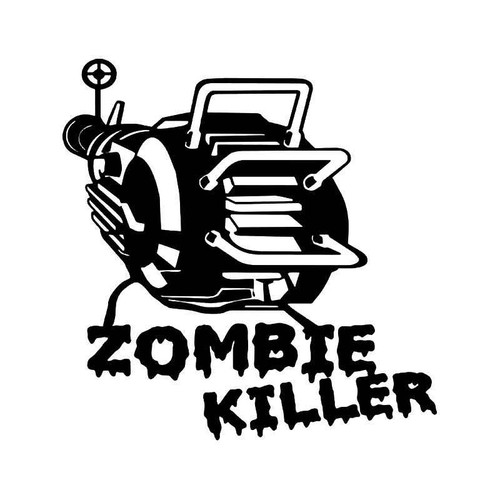 Zombie Killer Smash Machine Vinyl Sticker