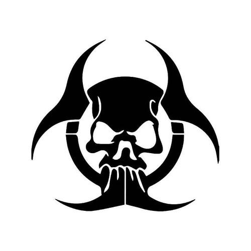 Zombie Radioactive Biohazard Vinyl Sticker