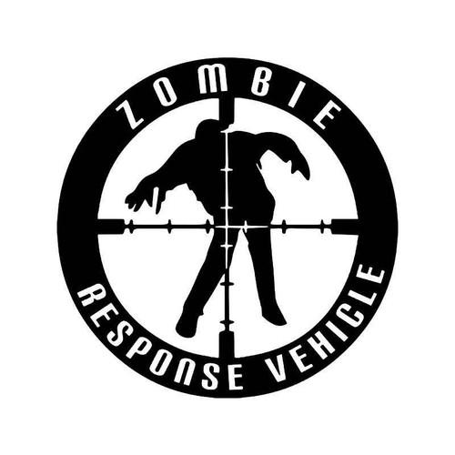 Zombie Response Vehicle Crosshairs Rifle Vinyl Sticker