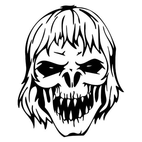 Zombie Skull Vinyl Sticker