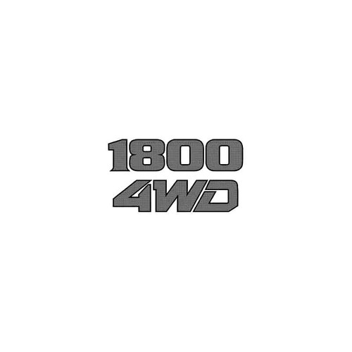 1800 4Wd Decal