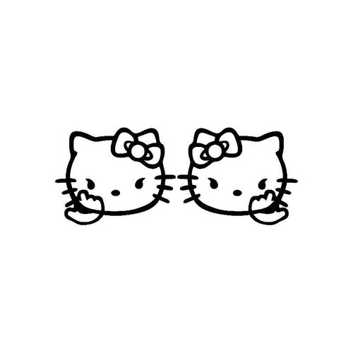 2X Hello Kitty Cats Jdm Jdm S Decal