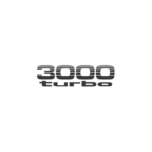 3000 Turbo Decal