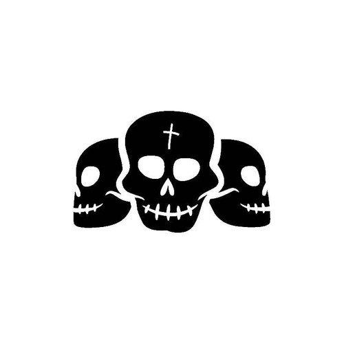 3 Skulls Decal