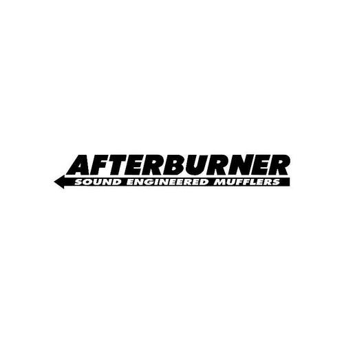 After Burner Mufflers Logo Jdm Decal