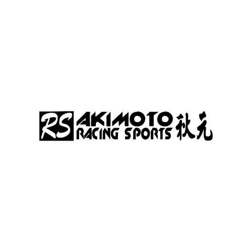 Akimoto Racing Sports Logo Jdm Decal