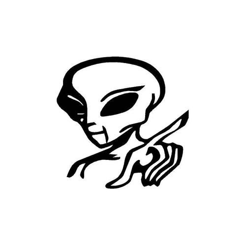 Alien Finger Decal