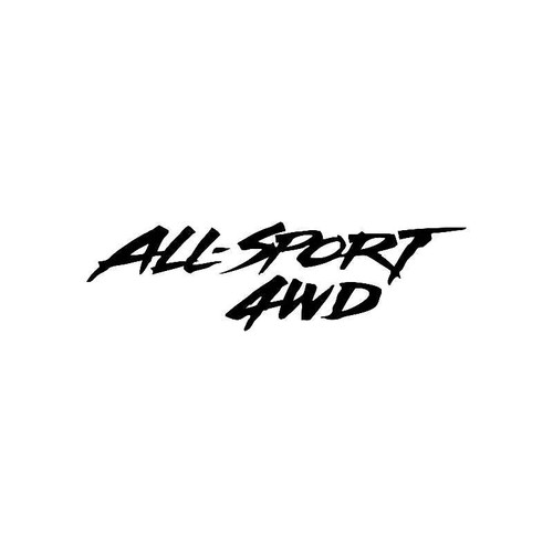 All Sport 4Wd Logo Jdm Decal