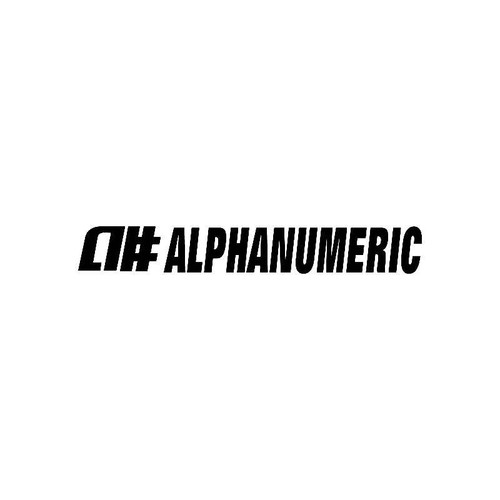 Alphanumeric Logo Jdm Decal