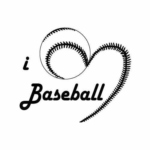Sports I Love Baseball  Vinyl Decal Sticker  Size option will determine the size from the longest side Industry standard high performance calendared vinyl film Cut from Oracle 651 2.5 mil Outdoor durability is 7 years Glossy surface finish