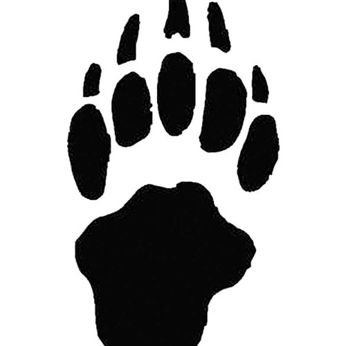 Badger Paw Print Tracks S Decal