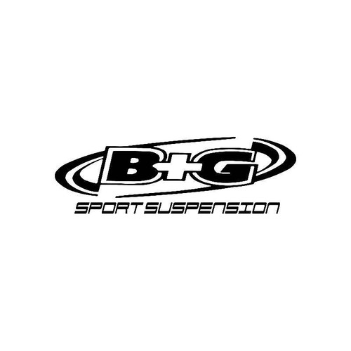 B And G Suspensions Logo Jdm Decal