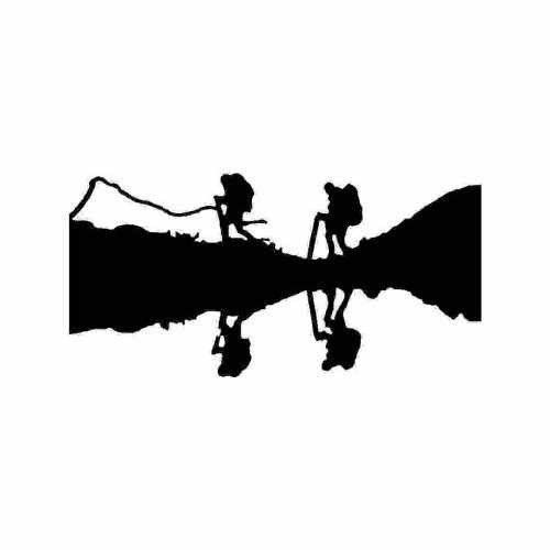 Sports Hiking  Vinyl Decal Sticker  Size option will determine the size from the longest side Industry standard high performance calendared vinyl film Cut from Oracle 651 2.5 mil Outdoor durability is 7 years Glossy surface finish
