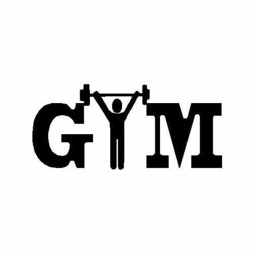 Sports Gym  Vinyl Decal Sticker  Size option will determine the size from the longest side Industry standard high performance calendared vinyl film Cut from Oracle 651 2.5 mil Outdoor durability is 7 years Glossy surface finish