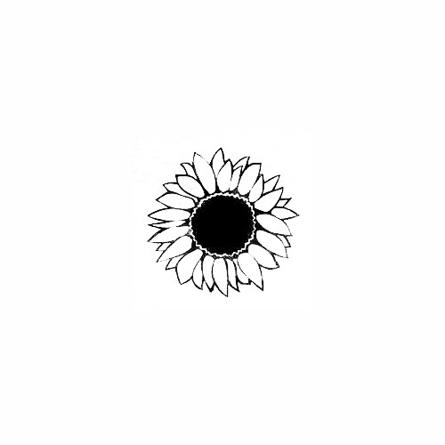 Sunflower Bloom Decal Size option will determine the size from the longest side Industry standard high performance calendared vinyl film Cut from Oracle 651 2.5 mil Outdoor durability is 7 years Glossy surface finish