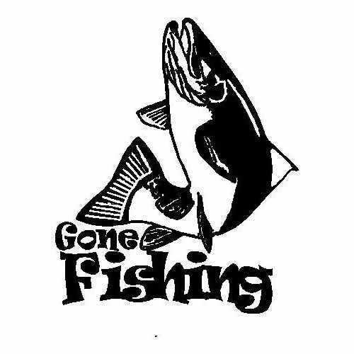 Sports Gone Fishing Trout  Vinyl Decal Sticker  Size option will determine the size from the longest side Industry standard high performance calendared vinyl film Cut from Oracle 651 2.5 mil Outdoor durability is 7 years Glossy surface finish