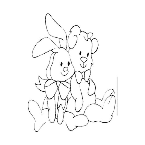 Bunny With Friend S Decal