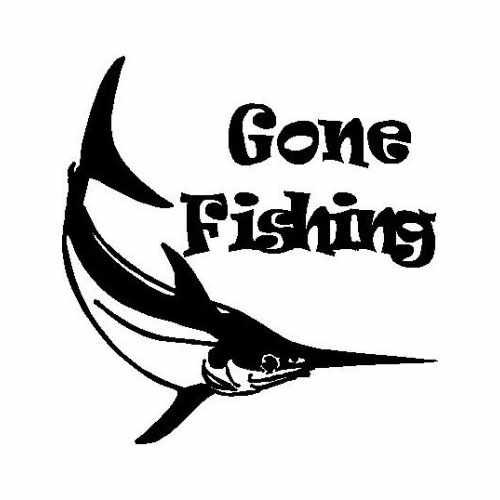 Sports Gone Fishing Swordfish  Vinyl Decal Sticker  Size option will determine the size from the longest side Industry standard high performance calendared vinyl film Cut from Oracle 651 2.5 mil Outdoor durability is 7 years Glossy surface finish