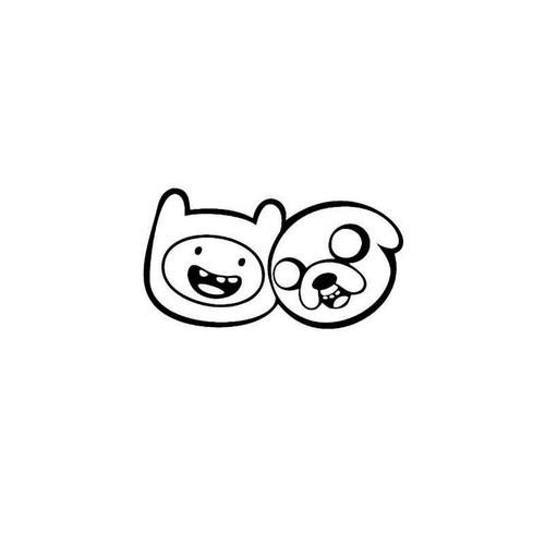 toon Adventure Time Finn & Jake Decal
