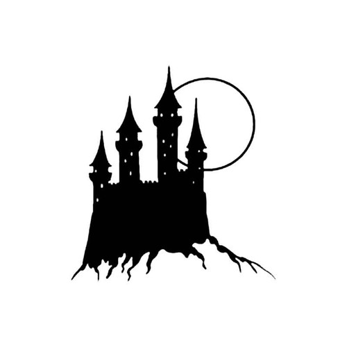 Castle In Moonlight S Decal