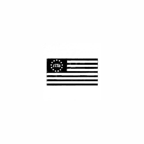 1776 Flag Decal Size option will determine the size from the longest side Industry standard high performance calendared vinyl film Cut from Oracle 651 2.5 mil Outdoor durability is 7 years Glossy surface finish