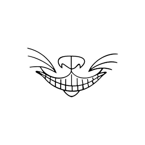 Cheshire Cat Grin S Decal
