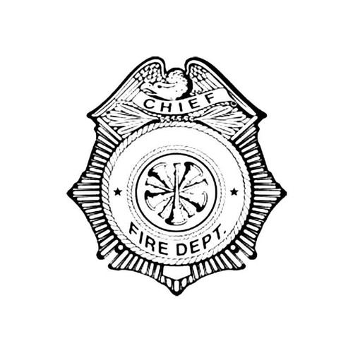 Chief Fire Dept Shield B S Decal
